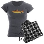 Masu Salmon Cherry Trout Women's Charcoal Pajamas
