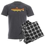 Masu Salmon Cherry Trout Men's Charcoal Pajamas