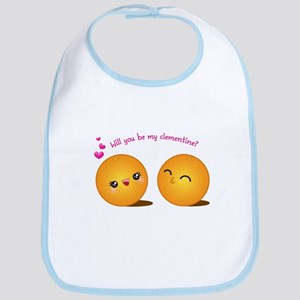 Be My Clementine Bib