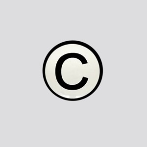 Copyright Logo Mini Button