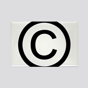 Copyright Logo Rectangle Magnet