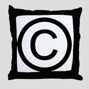 Copyright Logo Throw Pillow
