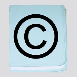 Copyright Logo baby blanket