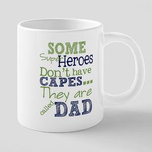 Dad Super Heroes 20 oz Ceramic Mega Mug