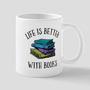 Life's Better With Books 11 oz Ceramic Mug