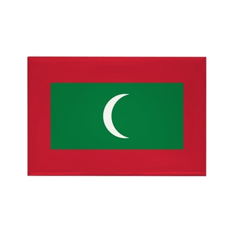 Maldives Flag Rectangle Magnet