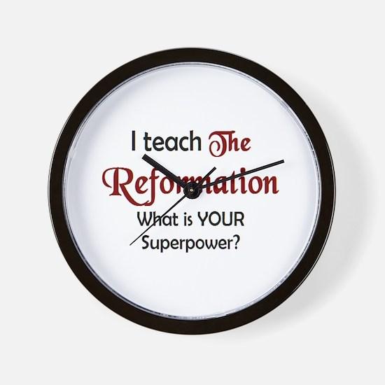 teach reformation Wall Clock