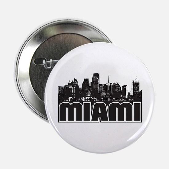 """Miami Skyline 2.25"""" Button"""