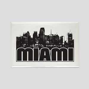 Miami Skyline Rectangle Magnet