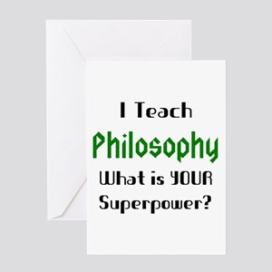 teach philosophy Greeting Card