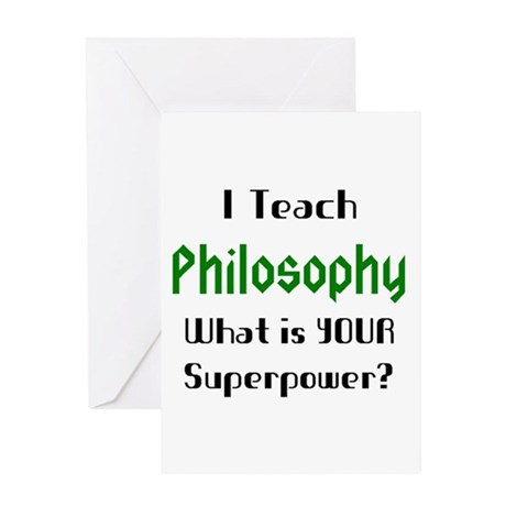 teach philosophy Greeting Card