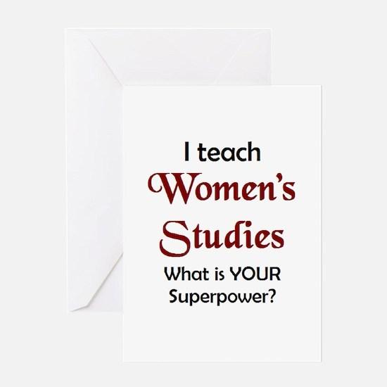 teach women's studies Greeting Card