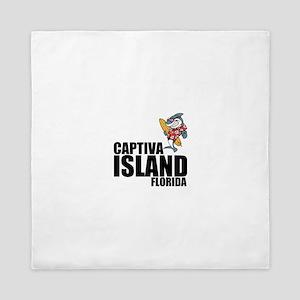 Captiva Island, Florida Queen Duvet