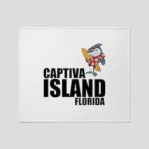 Captiva Island, Florida Throw Blanket