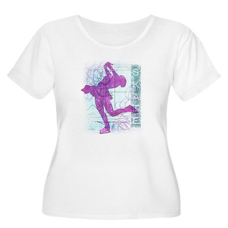 Figure Skating Collage Women's Plus Size Scoop Nec