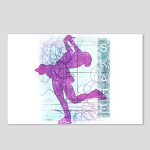 Figure Skating Collage Postcards (Package of 8)