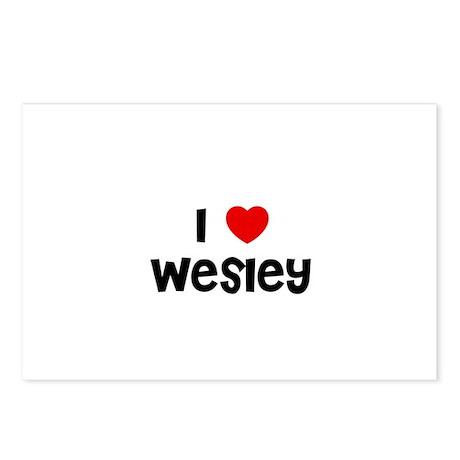 I * Wesley Postcards (Package of 8)