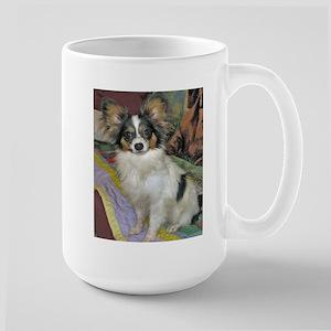 Tri Color Papillon Large Mug