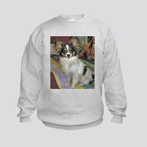 Tri Color Papillon Kids Sweatshirt