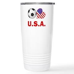 U.S.A. Soccer Fan Stainless Steel Travel Mug