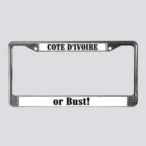 Cote D'ivoire or Bust! License Plate Frame