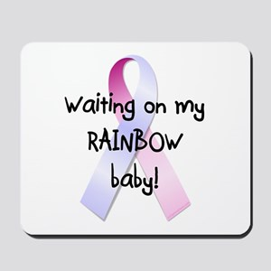 Waiting on rainbow baby Mousepad