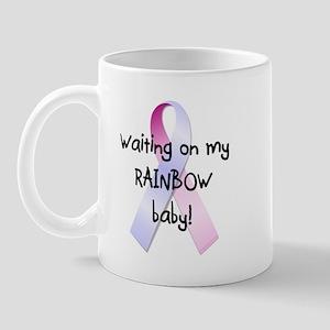 Waiting on rainbow baby Mug