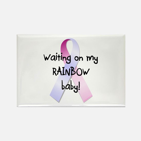Waiting on rainbow baby Rectangle Magnet