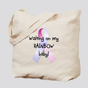 Waiting on rainbow baby Tote Bag