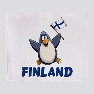Finland Penguin Throw Blanket