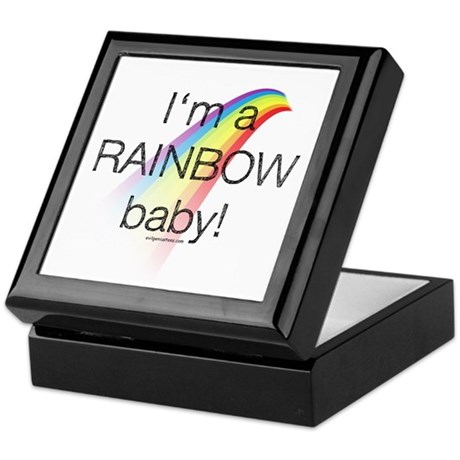 I'm a rainbow baby Keepsake Box