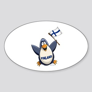 Finland Penguin Sticker (Oval)