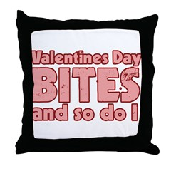Valentine's Day Bites Throw Pillow
