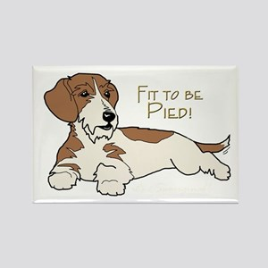 Wirehair Piebald Dachshund Rectangle Magnet