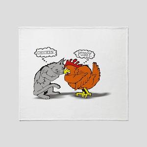 Chicken! Pussy! Throw Blanket