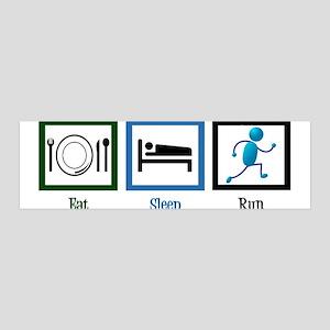 Eat Sleep Run 36x11 Wall Decal