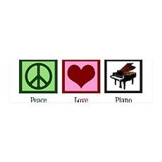 Peace Love Piano Wall Decal