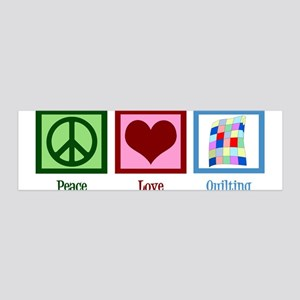 Peace Love Quilting 36x11 Wall Decal