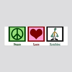 Peace Love Zombies 36x11 Wall Decal