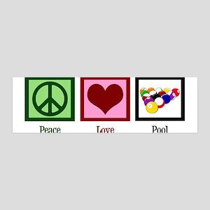 Peace Love Pool 36x11 Wall Decal