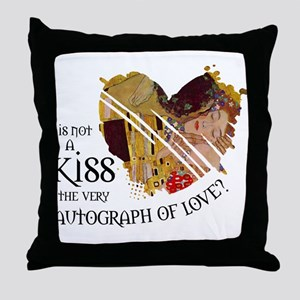 Autograph of Love Throw Pillow