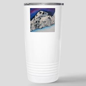 Snow Leopard Stainless Steel Travel Mug