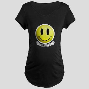 Nice Day Smiley Maternity Dark T-Shirt