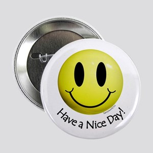 """Nice Day Smiley 2.25"""" Button"""