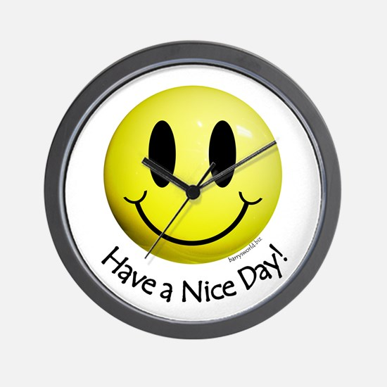 Nice Day Smiley Wall Clock