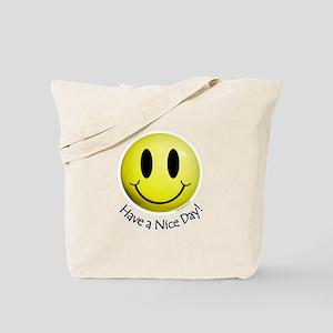 Nice Day Smiley Tote Bag