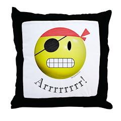Pirate Smiley Throw Pillow