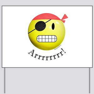 Pirate Smiley Yard Sign