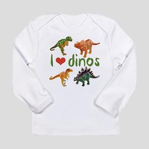 I Love Dinos Long Sleeve Infant T-Shirt