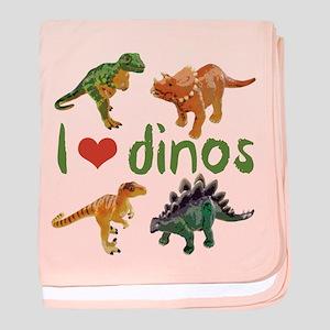 I Love Dinos baby blanket
